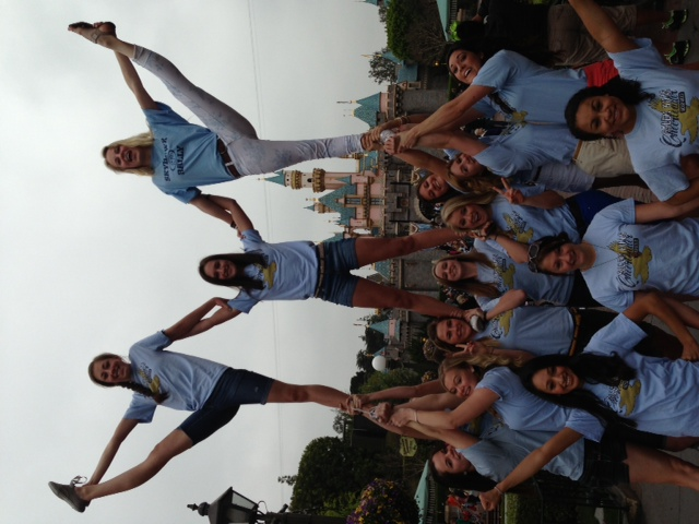 Cheer at Disneyland